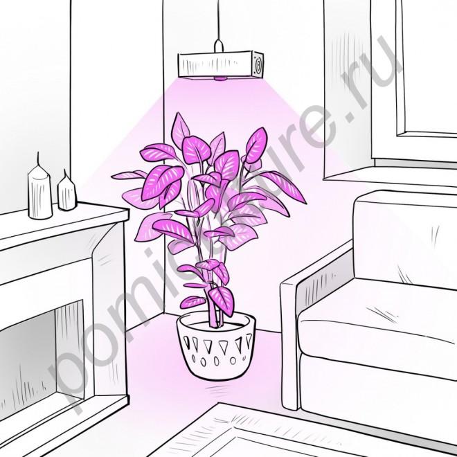 """Лампа светодиодная для растений """"Альтерф"""" 30 Вт (аналог китайской фито лампы мощностью 54W)"""