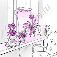 """Фитосветильник для подоконника на титанических присосках """"Ботейн"""""""